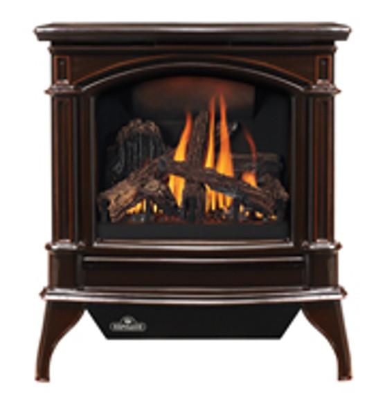 NAPOLEON GDS60-1NNSB Cast Iron Direct Vent Gas Stove - Porcelain Majolica Brown