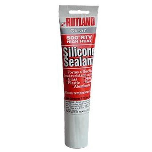 RUTLAND 500 Degree F RTV High Heat Silicone Sealant - 2.7 fl oz Clear
