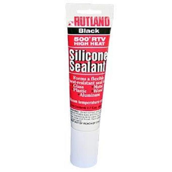 RUTLAND 500 Degree F RTV High Heat Silicone Sealant - 2.7 fl oz Black