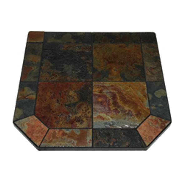 "American Panel Asian Slate Stove Board, Single Cut Corner, 40"" x 40"""