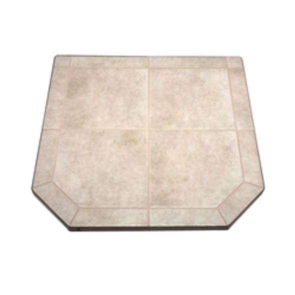 "American Panel Carmel Tile Stove Board, Single Cut Corner, 40"" x 40"""
