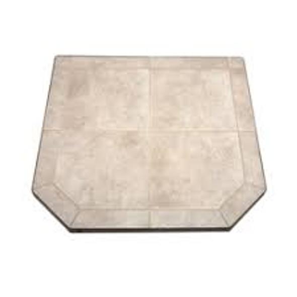 "American Panel Carmel Tile Stove Board, Single Cut Corner, 48"" x 48"""