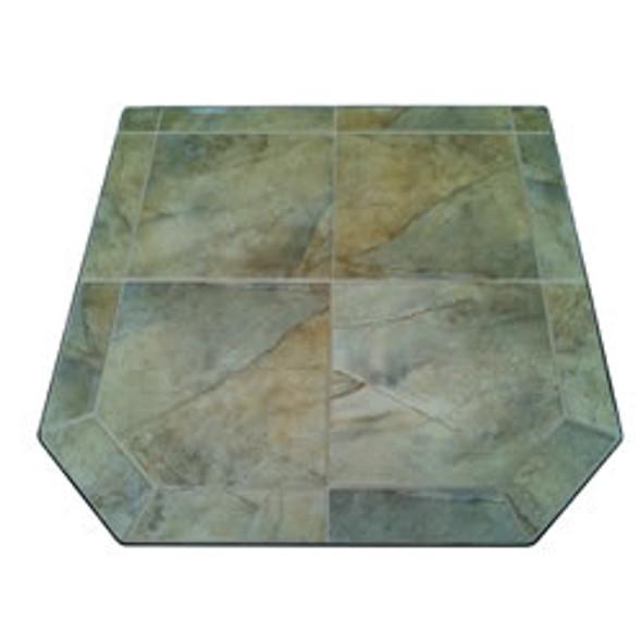 "American Panel Desert Storm II Tile Stove Board, Single Cut Corner, 40"" x 40"""