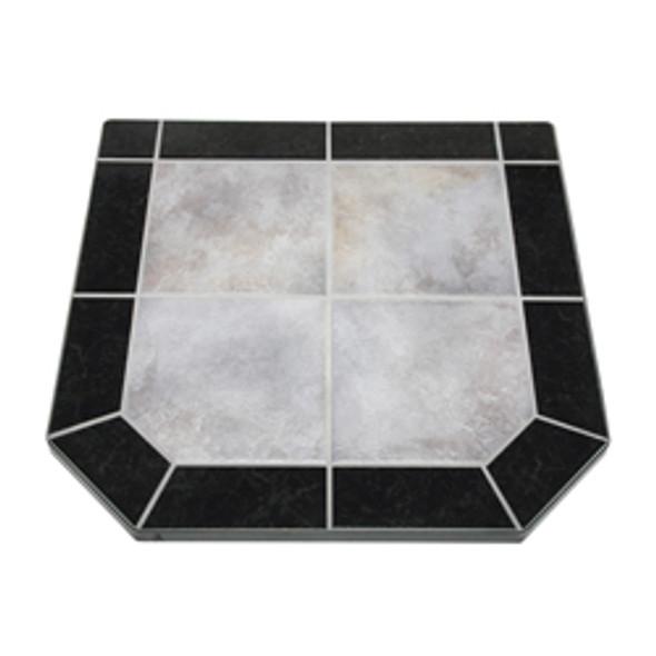 "American Panel Night Shadows Tile Stove Board, Double Cut, 40"" x 40"""