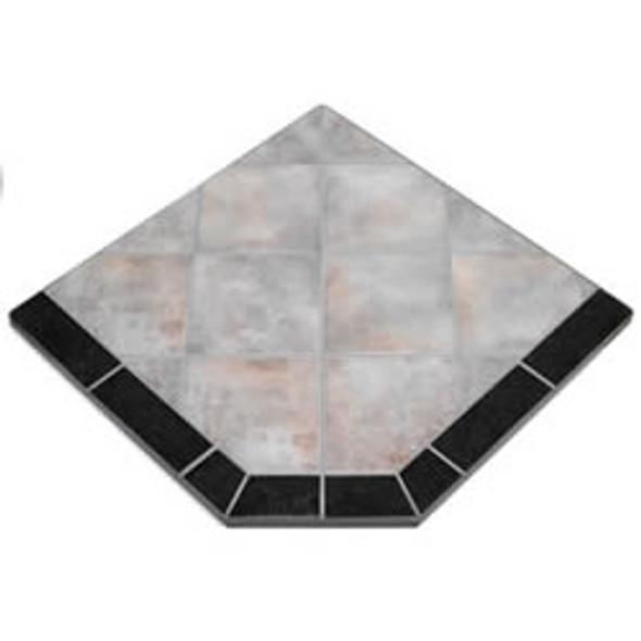 "American Panel Night Shadows Tile Stove Board, Single Cut Corner, 40"" x 40"""