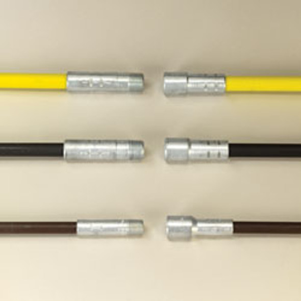 """3573271 .370"""" Professional Cleaning rod 6' Brown-1/4"""" Pt"""