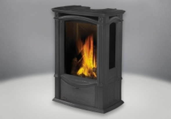 GDS26NSB CASTLEMORE™ DIRECT VENT CAST IRON GAS STOVE (TOP OR REAR VENT)