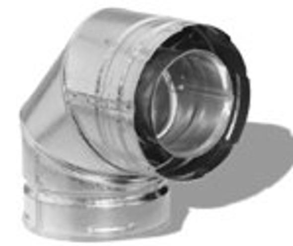 "5DT-EL90 METALBEST DIRECT TEMP 5"" x 8"" DIRECT VENT PIPE - 90 Degree Elbow - Galvanized"