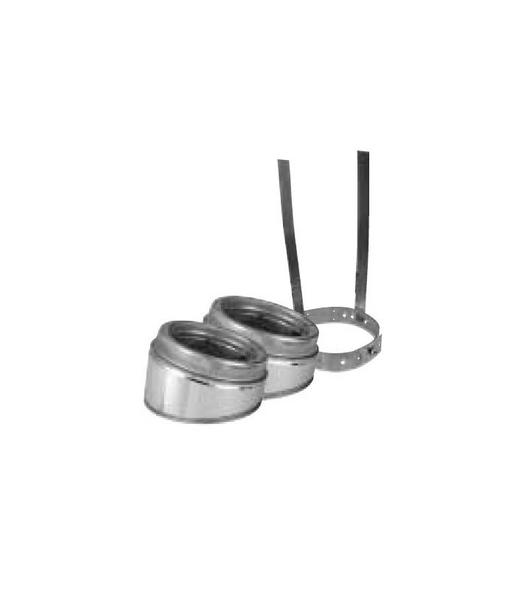 """6T-EL15KIT Selkirk Metal Best Ultra Temp Stainless Steel 15 Degree Kit in 6"""""""