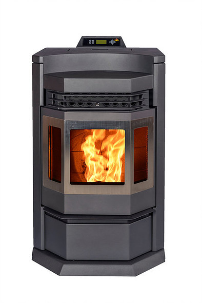 Comforbilt HP22-N Pellet Stove 80 lbs. hopper capacity Black with SS trim