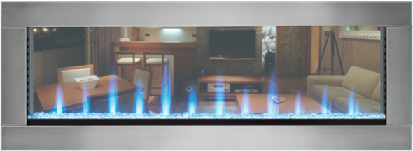 Napoleon CLEARion™ The First Truly See Through Electric Fireplace NEFBD50H