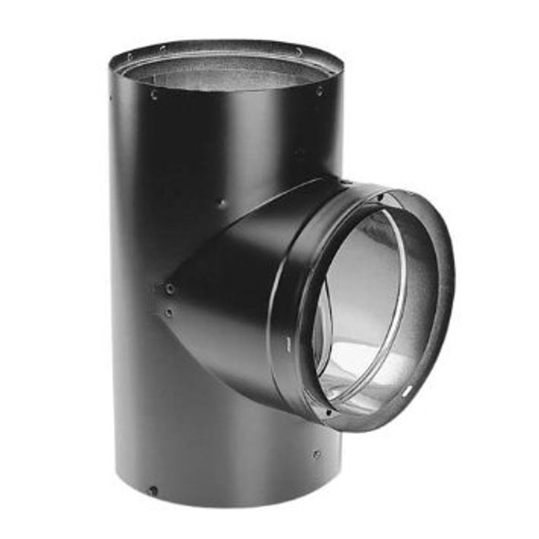"""Dura-Vent DVL Double-Wall Stove Pipe 7"""" Diameter Tee With Cover 7DVL-T"""