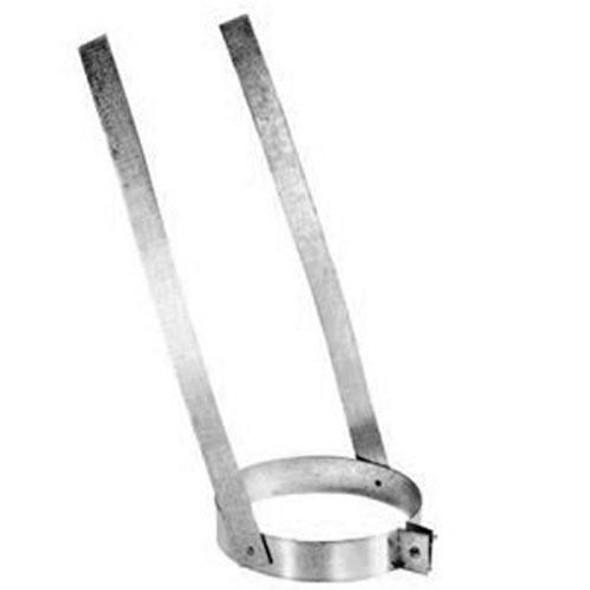 "8DP-ES 8"" Dura-Vent DuraPlus Elbow Strap, Galvanized Steel"