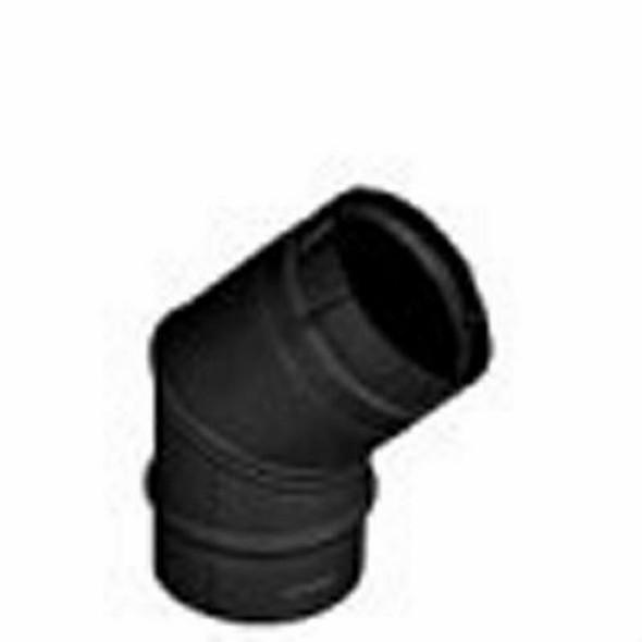 "DuraVent PelletVent Pro 4"" Elbow 45 Degree Black 4PVP-E45B"