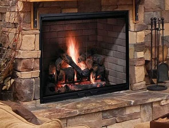 "SB80 42"" Majestic Biltmore Radiant Wood Burning Fireplace"