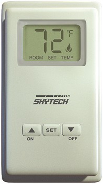 Skytech TS-R-2A Battery Operated Wall Mount Thermostat  with LCD Screen