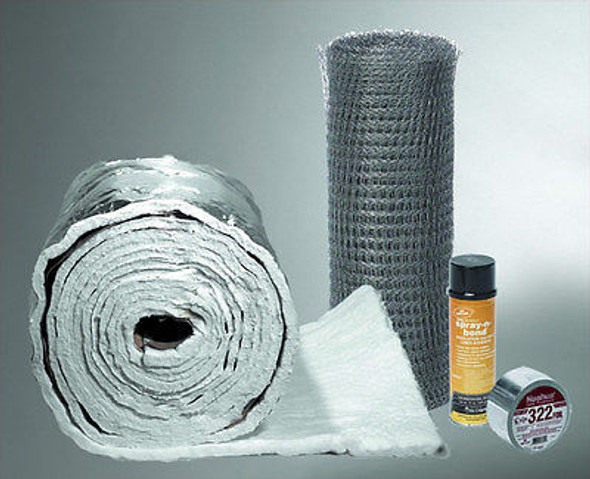"Chimney Liner Insulation Kit for 7"" and 8"" Diameter By 25' Length 1/4"" Thick"
