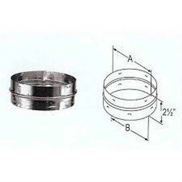 """DuraVent DVL DURABLACK CHIMNEY Double Wall Stove Pipe ADAPTER 7"""" Diameter 7DVL-ADC"""