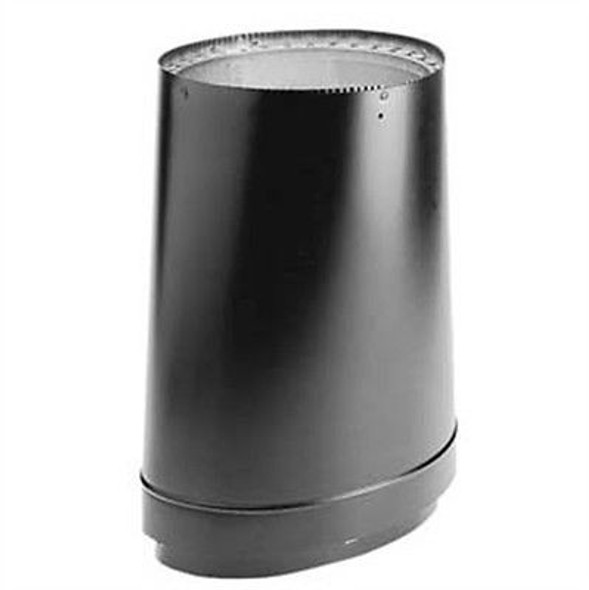 """DuraVent DVL® Double-Wall Stove Pipe 8"""" Oval To 6"""" Round Adapter 6DVL-ORAD"""