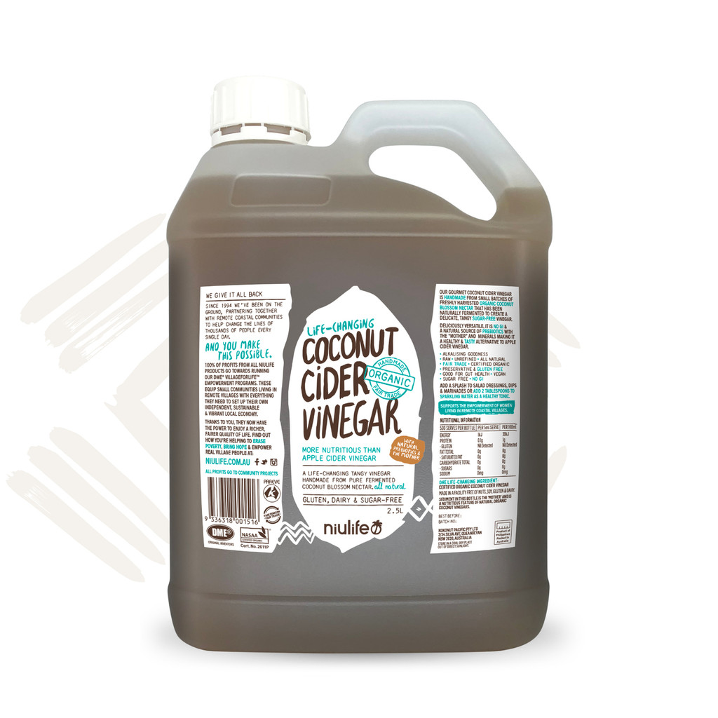 Handmade Coconut Cider Vinegar - Certified Organic 2.5L Jerry Can