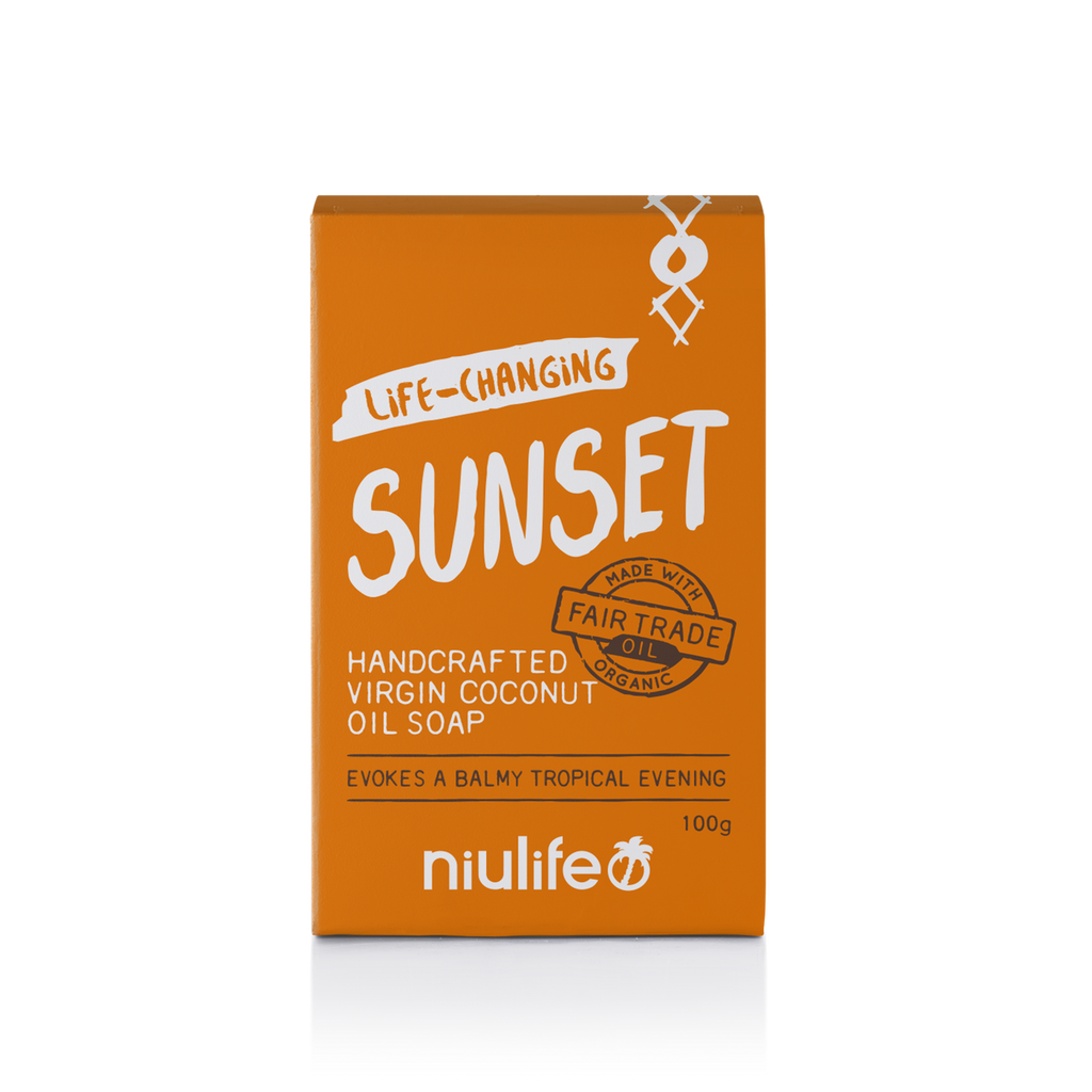 Sunset - Virgin Coconut Oil Soap 100g - NASAA Approved Cosmetic
