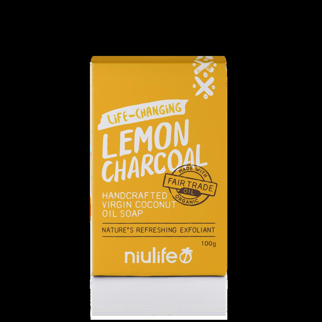 Lemon Charcoal Coconut Oil Soap 100g Bar