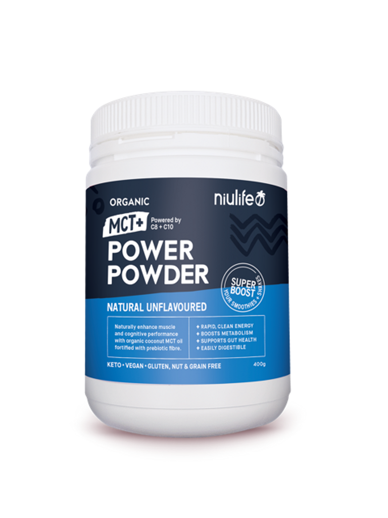 MCT+ Power Powder - Natural Unflavoured 400g - Certified Organic