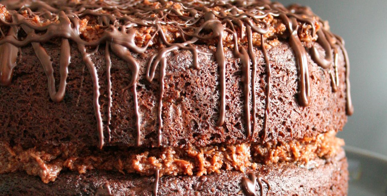 Chocolate, Zucchini & Coconut Cake
