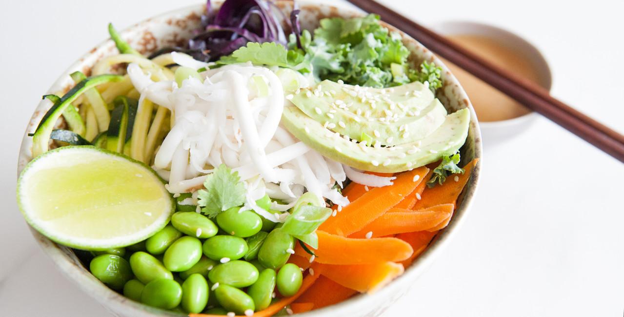 Raw Coconut Noodle Nourish Bowl