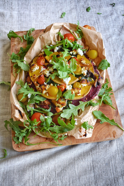 Caramelised Beetroot Veggie Pizza