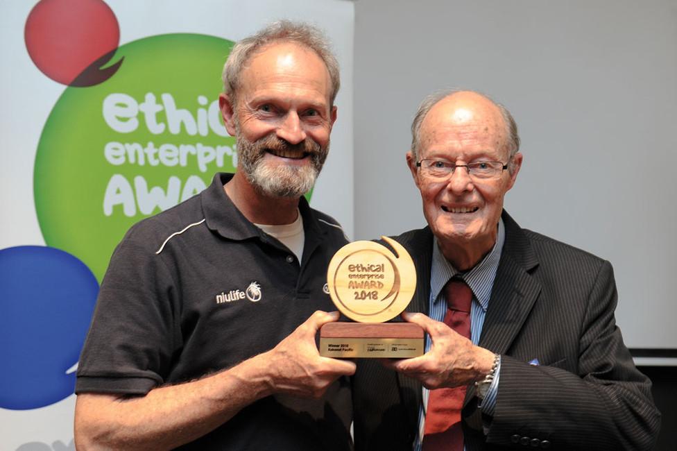 Winning the Ethical Enterprise Award 2018