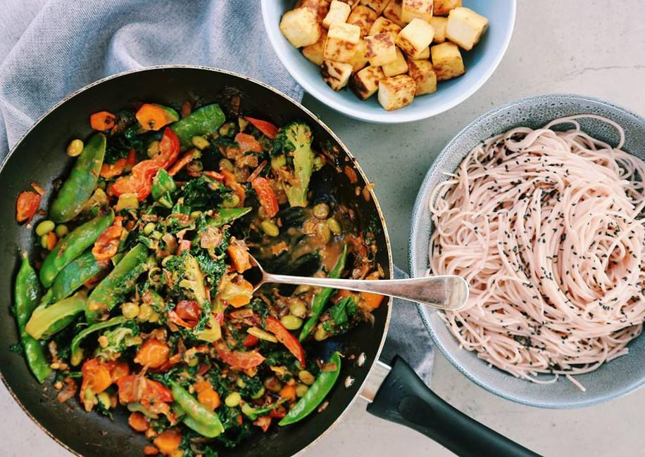 Satay Vegetable Stir-fry