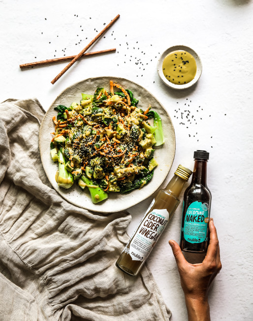 Sweet and Salty Bok Choy and Cucumber Salad