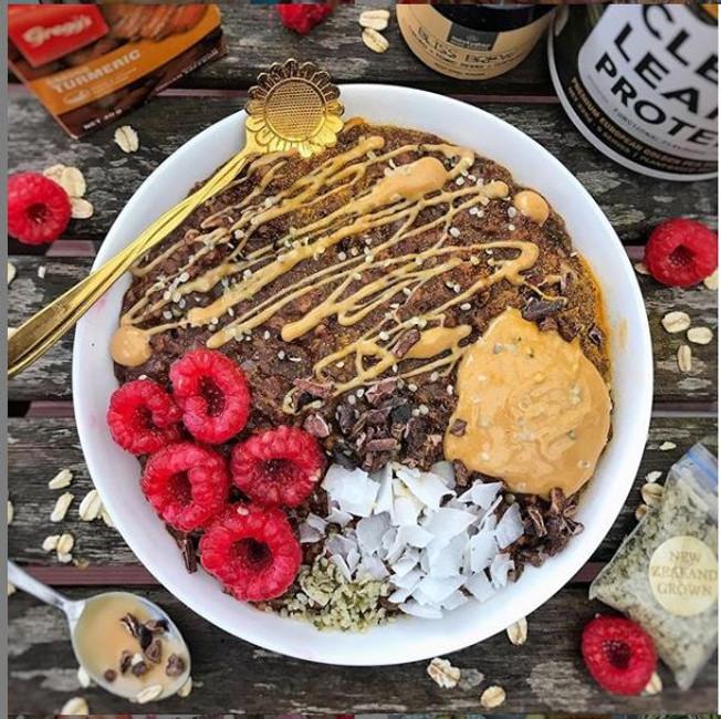 Choc Peanut Butter Protein Porridge