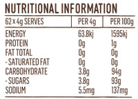 Coconut Sugar Nutritional Information