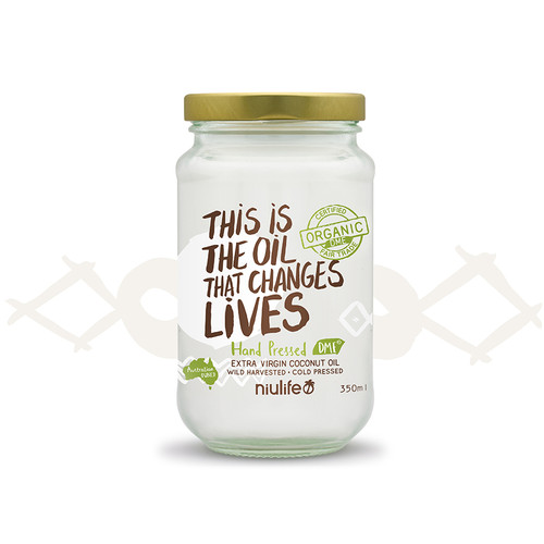 Extra Virgin Coconut Oil - Certified Organic - 350ml Glass Jar