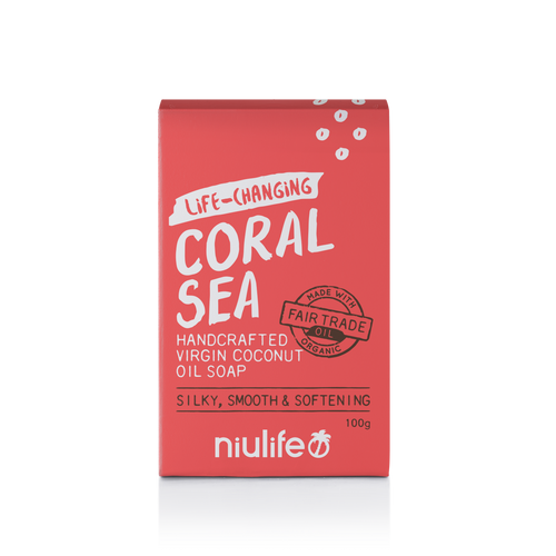 Coral Sea - Virgin Coconut Oil Soap 100g - NASAA Approved Cosmetic