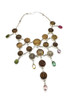 Antique Buttons and Jewels Necklace
