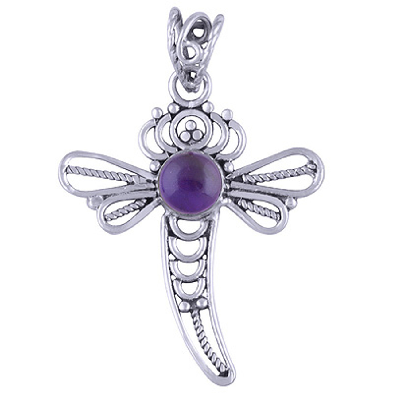 Dragonfly Sterling Silver Pendant