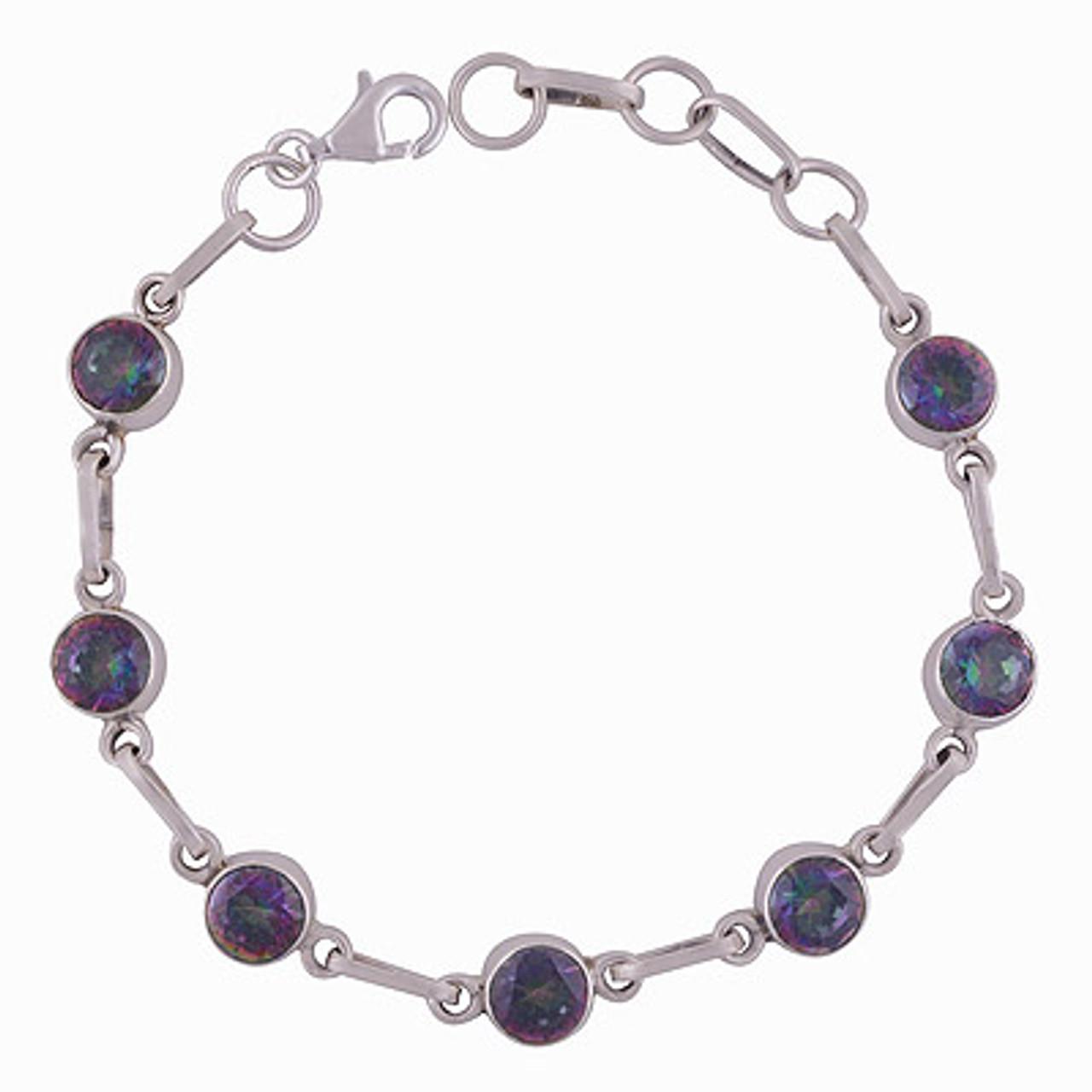 Petite Mystic Topaz All in One Silver Bracelet