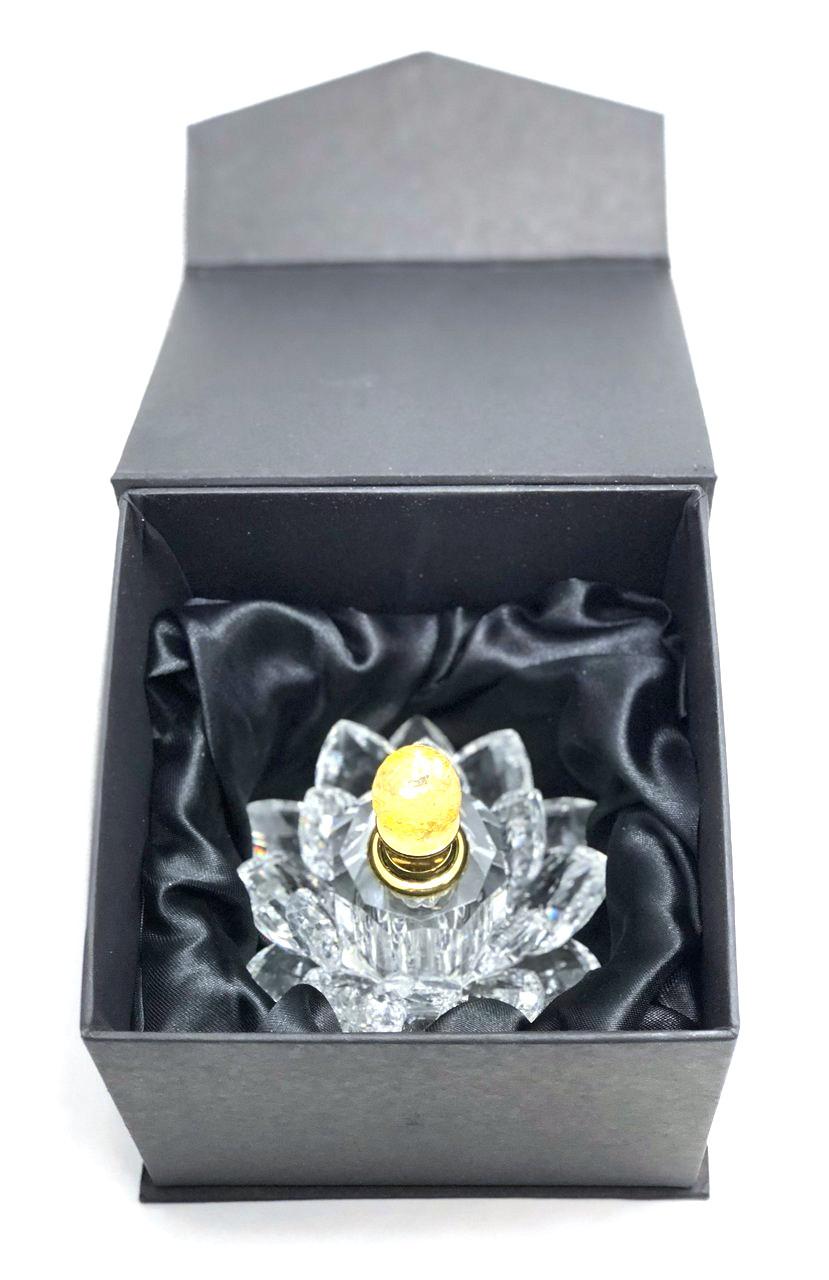 Fancy Crystal Petal Lotus Bottle w/Oil