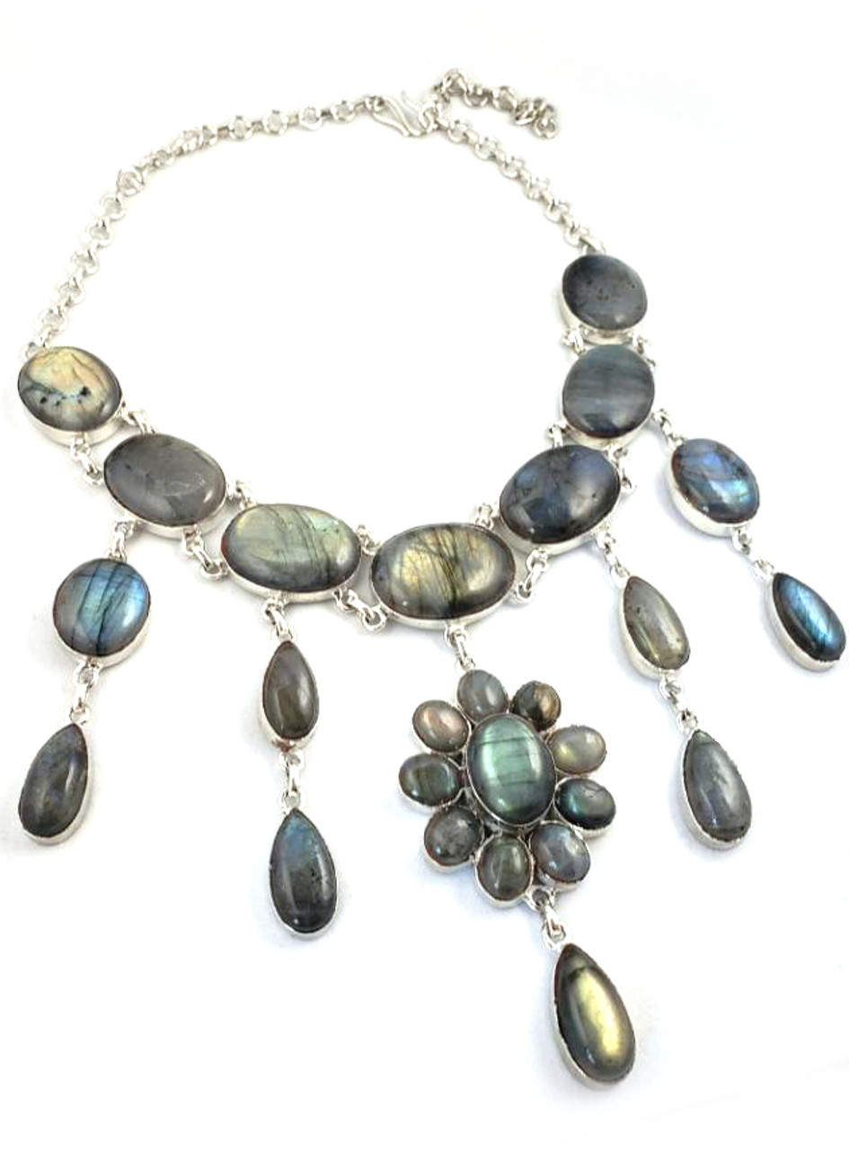NATURE's Magnificent SHIMMER - Amber Fire Labradorite