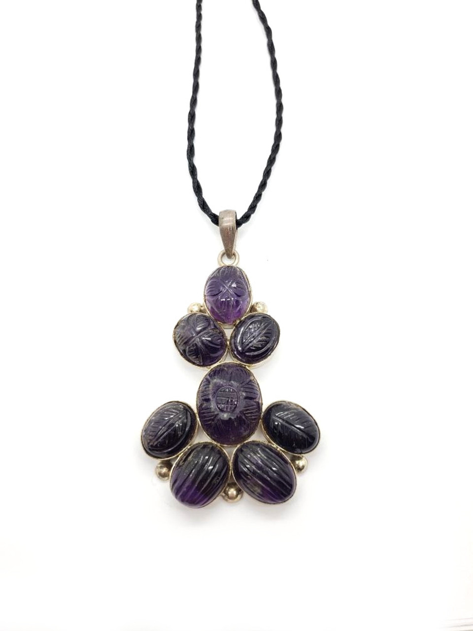 Nature Carved Amethyst Pendant