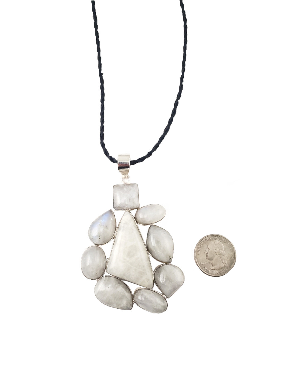 Surrounded by Moonstone Pendant