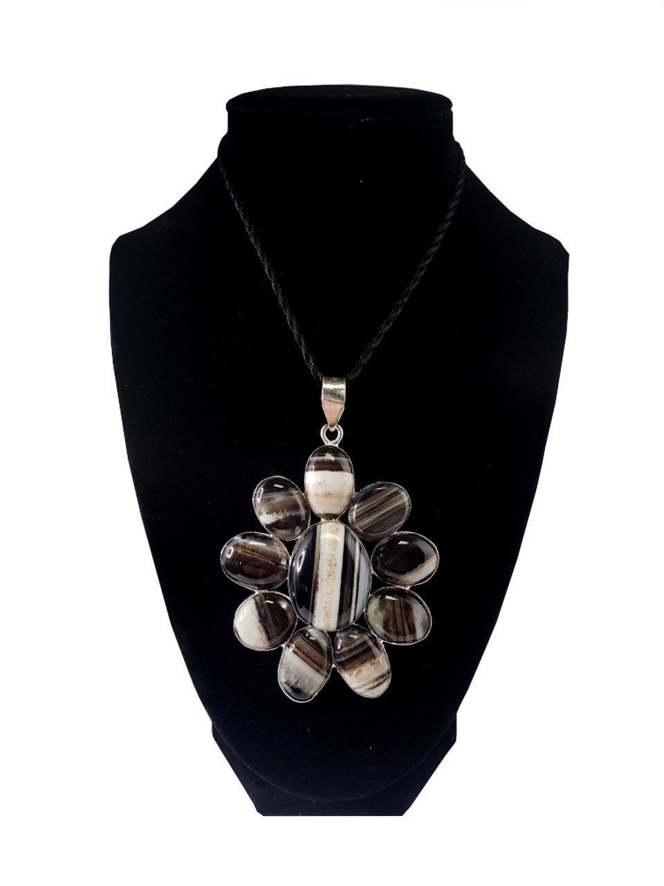 Express Yourself Banded Agate Pendant