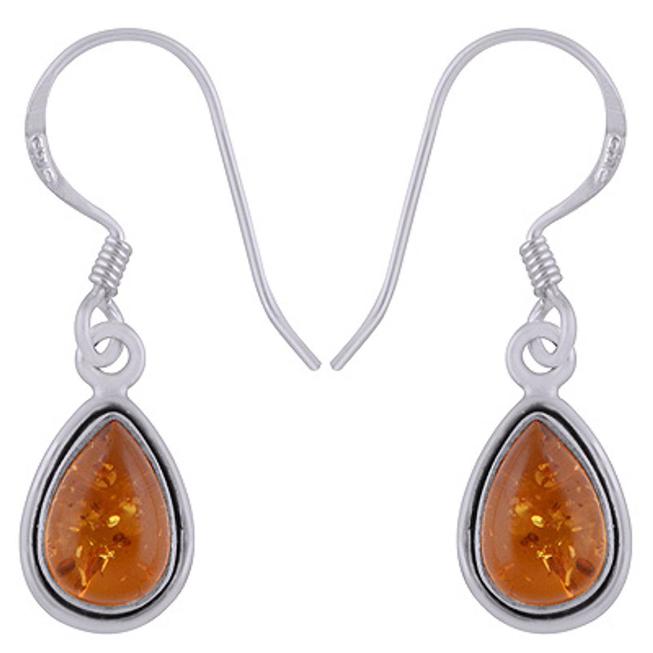 Amber Raindrop Earrings