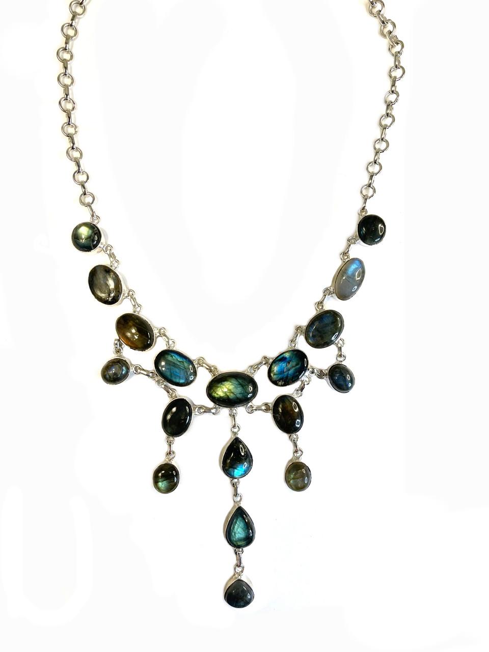 Blue Fire Labradorite Shimmer Necklace