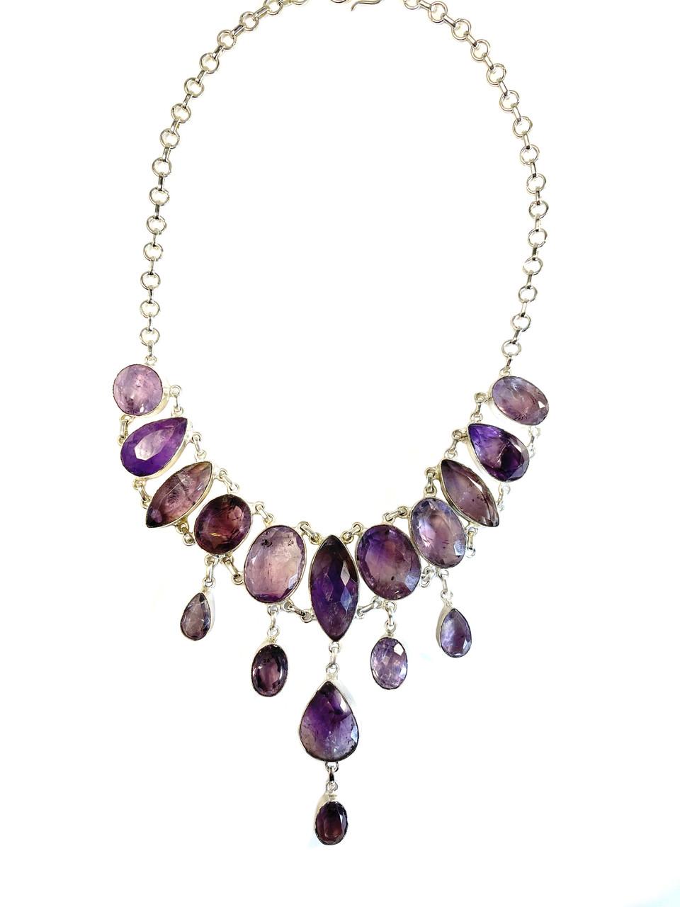 Elegant Faceted Amethyst Necklace