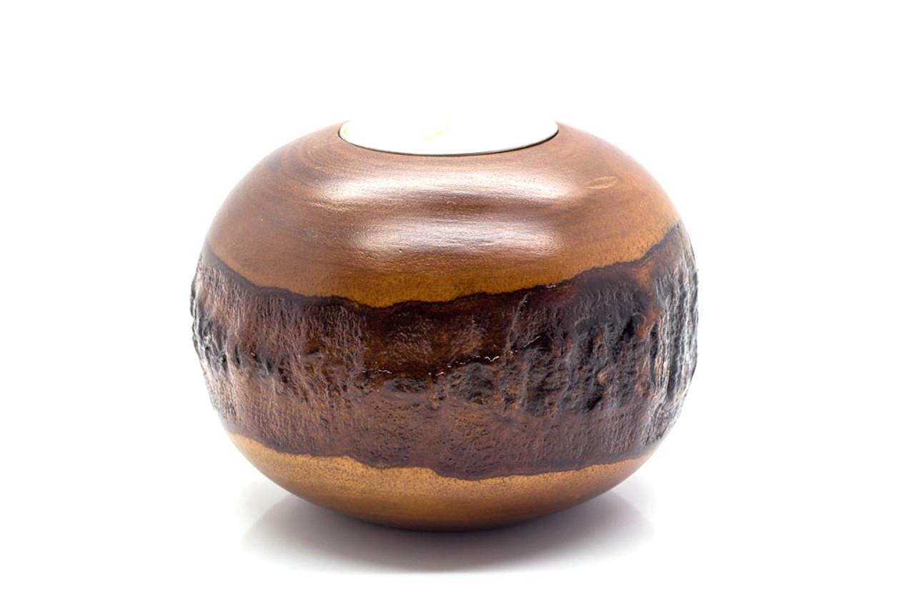 Mango Bark Round Candle Holder