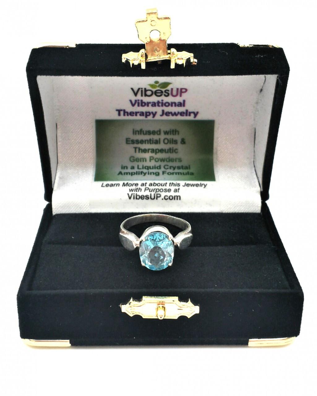 Sparkling Blue Topaz Ring